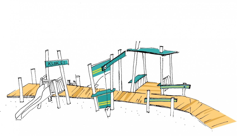 Naumann-Landschaft-Spielplatz-Kloksweg-Skizze-Steg Naumann – Landschaft